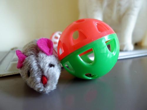 妹妹送給阿珠家貓的玩具-小老鼠與搖鈴