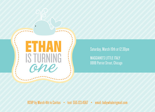 Ethan's 1st Birthday Invitation