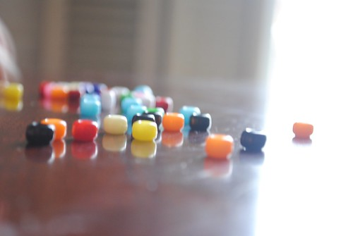 Beads across the table