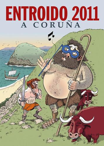 A Coruña - entroido 2011 - cartel