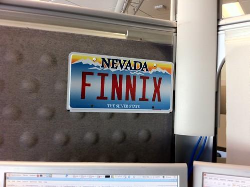 Finnix license plate