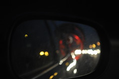 car bike night grenoble lights voiture rearview rétroviseur nuit vélo phares wingsidemirror