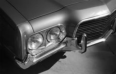 Get Off My Lawn (T-Terror) Tags: ford headlights grill d76 chrome olympustrip35 ilfordfp4 grantorino epsonv500