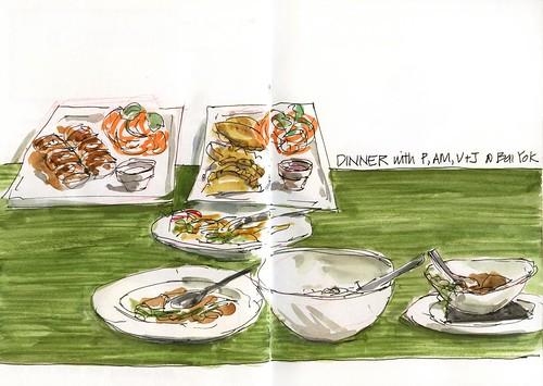 110304 Thai Dinner at Bai Yok with 4 friends