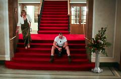 She's no lady ! (FotoFling Scotland) Tags: gay tranny bear kilt assemblyrooms edinburgh scotsman lady flowers redcarpet boots commando freeballing regimental ceilidh lgbt event scottish scotland drag staircase