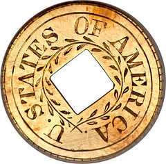 1849 Gold Dollar pattern reverse