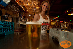 Beer! (originalhooters) Tags: beer bar tampa florida hooters taps fl pitchers bartender serving clearwater hootersgirls originalhooters meetahootersgirl