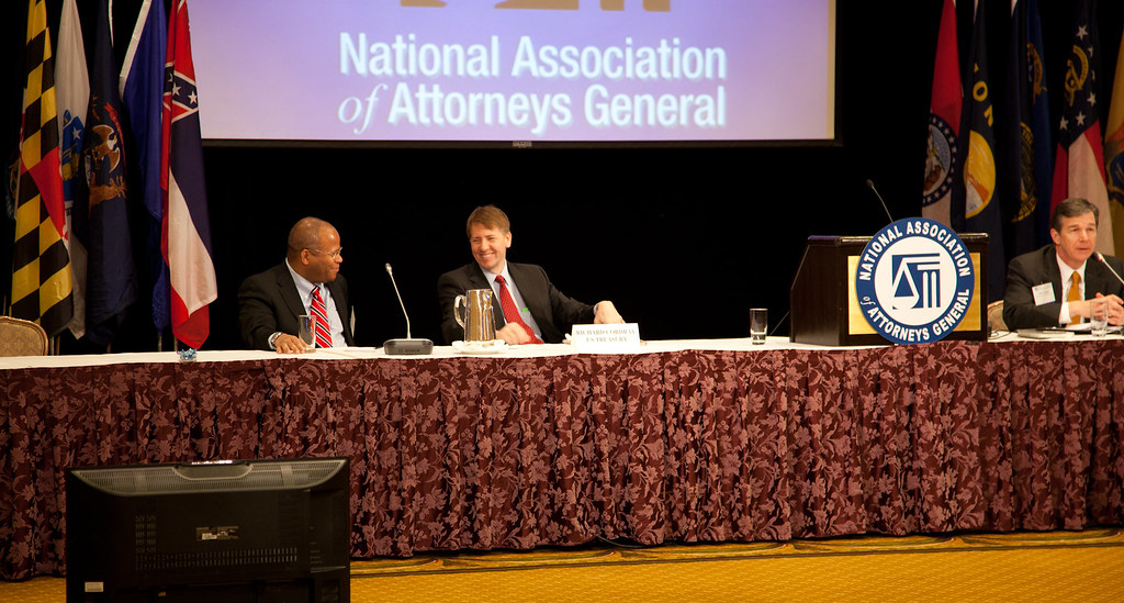 Richard Cordray speaks with State Attorneys General from across the country