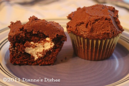 Glorious Chocolate Cream Filled Cupcakes