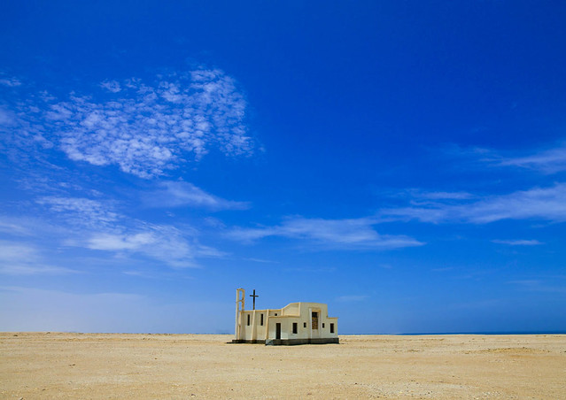 Church in Tombwa desert area - Angola