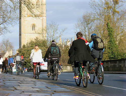 Cycling Magdalen Bridge