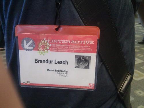 SXSW 2011 badge