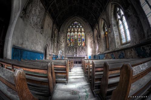 Abandoned chapel - higher angle