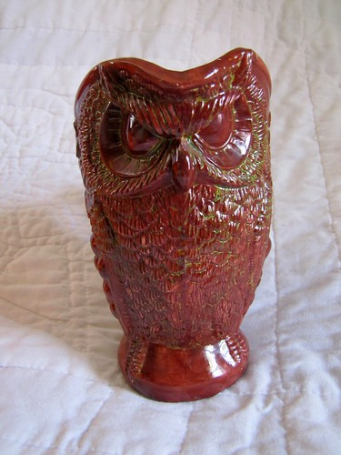 scary owl pitcher