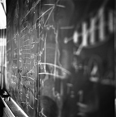B&W Inspiration (Julio Barros) Tags: chalk crazy kodak iso400 400tx math kiev 6c blackboard f28 80mm arsatc