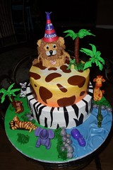 "King of the jungle safari birthday cake • <a style=""font-size:0.8em;"" href=""http://www.flickr.com/photos/60584691@N02/5525356904/"" target=""_blank"">View on Flickr</a>"