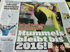 BILD-Schlagzeile: Hummels bleibt bis 2016