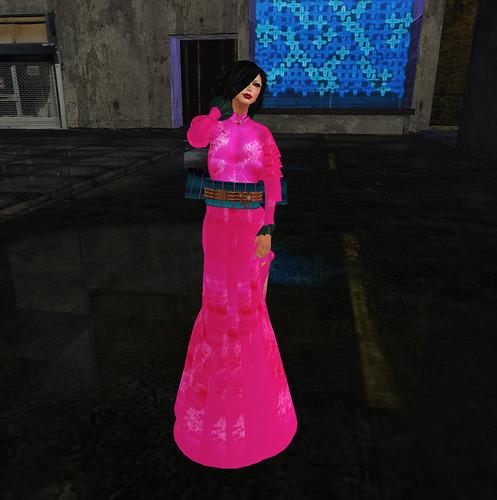 Pink pacific kimono dress
