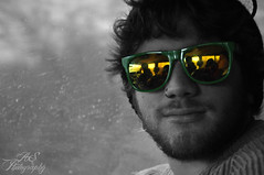 """Davey Boy (Andrew """"Shutter"""") Tags: winter boy portrait blackandwhite white david black color green yellow dave hair beard photography gold glasses nikon post andrew portraiture processing skater beanie skateboarder selective selectivecolor postprocessing 2011 d90 daveyboy nikond90 wolowski andrewsutter winter2011 andrewsutterphotography davidwolowski"""