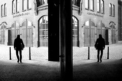 . (ngravity) Tags: street bw man reflection berlin window canon germany streetphotography eos50d makrygiannakis