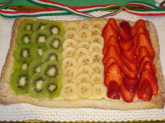 crostata di frutta e crema: Unità d'Italia