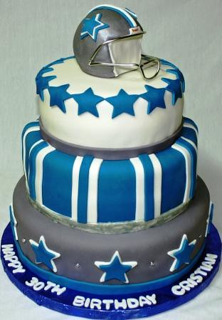Astonishing Dallas Cowboys Tiered 30Th Birthday Cake A Photo On Flickriver Personalised Birthday Cards Paralily Jamesorg