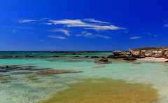 Elafonisi Beach (kcezary) Tags: ocean travel blue sea summer vacation tourism beach colors canon catchycolors landscape is