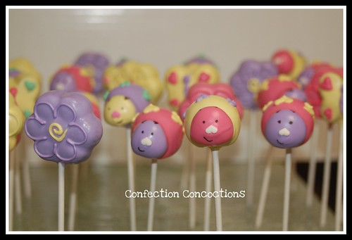 Spring Bugs and Flowers Cake Pops