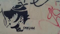 Dream (Smeerch) Tags: streetart stencils rome roma art stencil arte dream dreams aerosolart sogno sogni ostiense artedistrada viaaldomanunzio