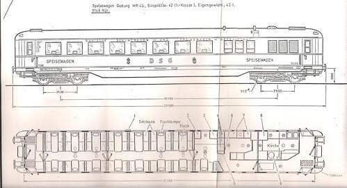 German heritage carriage - Speisewagen, restaurant car