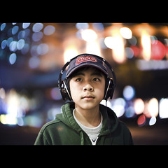 206/365 (brandonhuang) Tags: leica light boy portrait face 50mm lights focus dof bokeh headphones noctilux m9 f095 50mmf095 brandonhuang