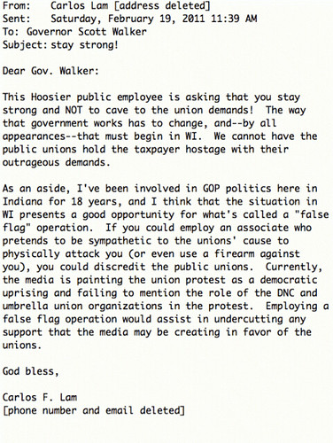 Pro Walker Email: With Real Nutjobs Like This Who Needs Fake Kochs?