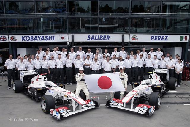 2011 Sauber F1 Team Honoring Japan
