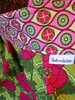 Birdie Sling - Pink & Green (loveelaine) Tags: pink green totebag birdiesling loveelainehandmaderichmondvirginiaetsysellermodernfabricsbrightcolors