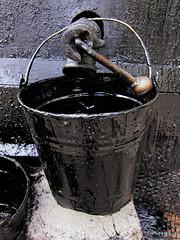Tar Bucket (elizaIO) Tags: bucket tar blackonblack