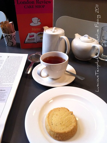 Keemun Mao Feng Tea and Polenta & Lavender Cookie - London Review Cake Shop