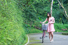 (nodie26) Tags: portrait people girl bicycle walk feel trail hualien            lohas