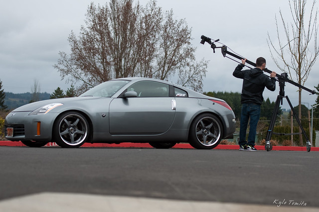 Ryan Davis filming PSI built LS1 350Z 002