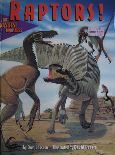 Raptors! The Nastiest Dinosaurs - Paintings by Dave Peters Cover