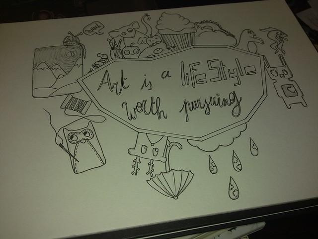 Cover art voor schetsboek