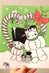 Made by boopsiedaisy - Scary Christmas (Ana Camamiel) Tags: christmas family halloween beautiful familia wonderful navidad frankenstein snowmen awesomeness cuteashell photoprint amazingstuff muecosdenieve boopsiedaisy boopsiemart ilovemissy
