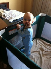 Travel crib.