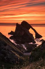 Just Before Sunrise at Bow Fiddle (Geoff France) Tags: moray moraycoast landscape seascape sea scottishlandscape outdoor rock tide morayfirth