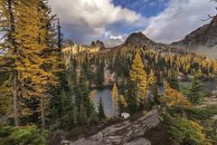 Blue Lake, North Cascades Highway (i8seattle) Tags: bluelake northcascadeshighway northcascades larch subalpinelarch fallcolors