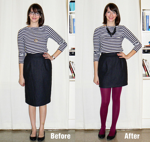 Skirt Before and After