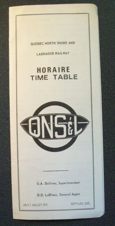 Vintage Quebec North Shore and Labrador program