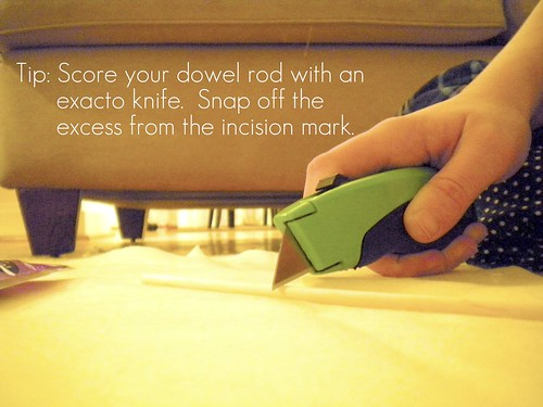 tip on cutting dowel rods