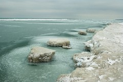 Ice Islands (Silver Cat Photography) Tags: winter lake ice beach water berg nikon michigan huron lakehuron floe oscoda d80 ioscocounty nikond80 msphotography
