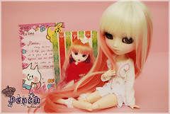 Christmas Card from April  (-Poison Girl-) Tags: new pink sleeping white girl hair eyes doll pretty dolls sleep peach pale lolita wig blonde groove pullip poison custom angelic pullips poisongirl closedeyes angelicpretty junplanning kunkun sfoglia eyechip rewigged obitsubody rechipped sbhm pullipsfoglia