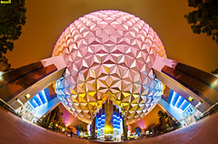 This, Our Spaceship Earth (Tom.Bricker) Tags: vacation architecture america photoshop orlando epcot raw florida patrick disney mickey fisheye disneyworld mickeymouse nikkor wdw dslr waltdisneyworld figment epcotcenter themepark waltdisney worldshowcase futureworld wdi lakebuenavista imagineering journeyintoimagination imageworks disneyresort nikondslr disneypictures dreamfinder upsidedownwaterfall waltdisneyimagineering disneyphotos wedenterprises disneyphotography wdwfigment tombricker disneyworldpictures waltdisneyworldpictures deprey nikond7000 magiceyetheater photoshopcs5 d7000nikon worldshowcasegeosphere disneyfisheye